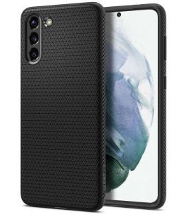 """Juodas dėklas Samsung Galaxy S21 telefonui """"Spigen Liquid Air"""""""
