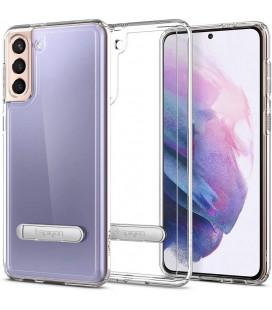 "Skaidrus dėklas Samsung Galaxy S21 Plus telefonui ""Spigen Ultra Hybrid S"""