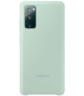 """Originalus mėtos spalvos dėklas """"Silicone Cover"""" Samsung Galaxy S20 FE telefonui """"EF-PG780TME"""""""