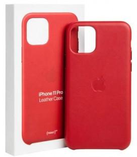 """Originalus raudonas dėklas """"Leather Cover"""" Apple iPhone 11 Pro telefonui """"MWYF2ZM/A"""""""