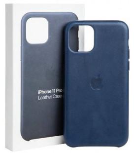 "Originalus mėlynas dėklas ""Leather Cover"" Apple iPhone 11 Pro telefonui ""MWYG2ZM/A"""