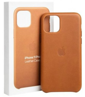 "Originalus rudas dėklas ""Leather Cover"" Apple iPhone 11 Pro telefonui ""MWYD2ZM/A"""