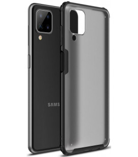 "Juodas dėklas Samsung Galaxy A12 telefonui ""Tech-Protect Hybridshell"""