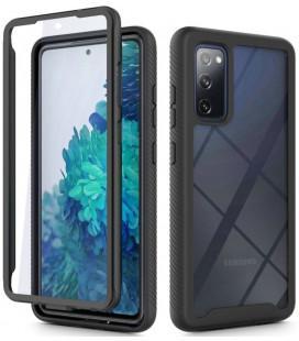 """Juodas dėklas Samsung Galaxy S20 FE telefonui """"Tech-protect Defense360"""""""