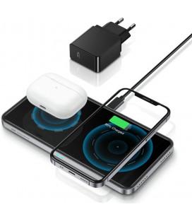 """Juodas belaidis telefonų kroviklis """"ESR Halolock 2in1 Magnetic Magsafe"""""""