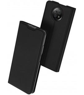 """Juodas atverčiamas dėklas Xiaomi Redmi Note 9T 5G telefonui """"Dux Ducis Skin Pro"""""""