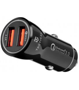 "Juodas automobilinis telefonų kroviklis 2xUSB-A QC 3.0 3.1A ""Tactical YSL-399"""
