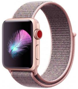 """Rožinė apyrankė Apple Watch 4 / 5 / 6 / 7 / SE (38 / 40 / 41 mm) laikrodžiui """"Tech-Protect Nylon"""""""