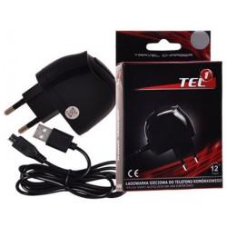 """Pakrovėjas 1A + Micro USB laidas """"Tel1"""""""