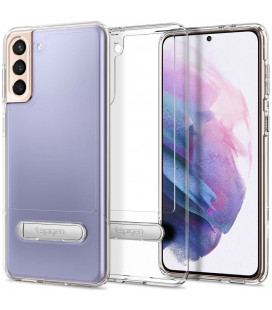 "Skaidrus dėklas Samsung Galaxy S21 telefonui ""Spigen Slim Armor Essential S"""