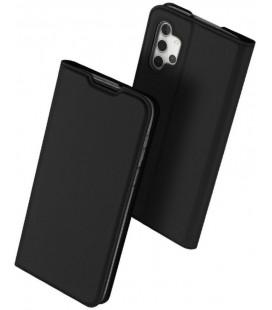 """Juodas atverčiamas dėklas Samsung Galaxy A32 telefonui """"Dux Ducis Skin Pro"""""""