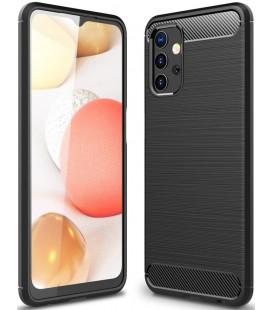 """Juodas dėklas Samsung Galaxy A32 5G telefonui """"Tech-Protect TPUCarbon"""""""
