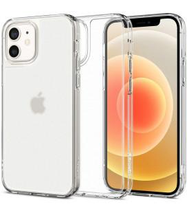 "Matinis skaidrus dėklas Apple iPhone 12 Mini telefonui ""Spigen Quartz Hybrid"""