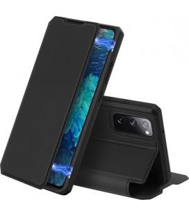 """Juodas atverčiamas dėklas Samsung Galaxy S20 FE telefonui """"Dux Ducis Skin X"""""""