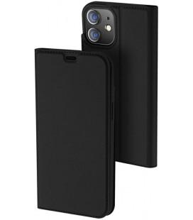 """Juodas atverčiamas dėklas Apple iPhone 12 Mini telefonui """"Dux Ducis Skin Pro"""""""