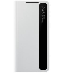 """Originalus šviesiai pilkas atverčiamas dėklas """"Clear View Cover"""" Samsung Galaxy S21 telefonui """"EF-ZG991CJE"""""""