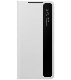 """Originalus šviesiai pilkas atverčiamas dėklas """"Clear View Cover"""" Samsung Galaxy S21 Ultra telefonui """"EF-ZG998CJE"""""""