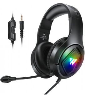 """Juodos ausinės su mikrofonu 3D Stereo 3,5mm """"Wintory M1"""""""