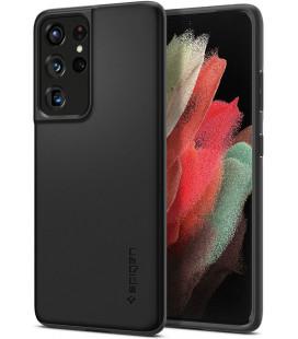"Juodas dėklas Samsung Galaxy S21 Ultra telefonui ""Spigen Thin Fit"""