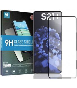 """Juodas apsauginis grūdintas stiklas Samsung Galaxy S21 Plus telefonui """"Mocolo TG Full Glue"""""""