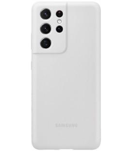 """Originalus šviesiai pilkas dėklas """"Silicone Cover"""" Samsung Galaxy S21 Ultra telefonui """"EF-PG998TJE"""""""
