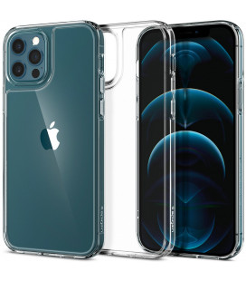 "Matinis skaidrus dėklas Apple iPhone 12/12 Pro telefonui ""Spigen Quartz Hybrid"""