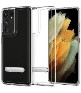 "Skaidrus dėklas Samsung Galaxy S21 Ultra telefonui ""Spigen Ultra Hybrid S"""
