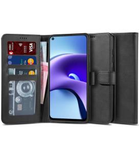 """Juodas atverčiamas dėklas Xiaomi Redmi Note 9T 5G telefonui """"Tech-protect Wallet 2"""""""