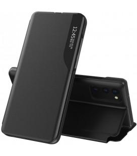 """Juodas atverčiamas dėklas Xiaomi Poco M3 telefonui """"Tech-protect Smart View"""""""