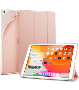 """Rausvai auksinės splavos atverčiamas dėklas Apple iPad 7/8 10.2 2019/2020 planšetei """"ESR Rebound Slim"""""""