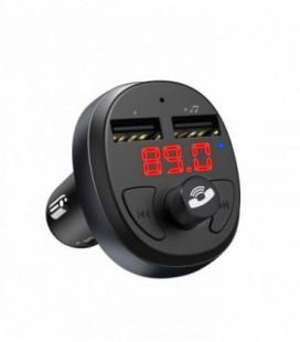 Transmiteris Hoco E41 Bluetooth MP3 grotuvas/FM bangų moduliatorius (laisvų rankų įranga, microSD, SD, 2xUSB, LCD, 3.1A įkrovikl