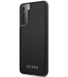 """Juodas dėklas Samsung Galaxy S21 Plus telefonui """"GUHCS21MIGLBK Guess Iridescent Cover"""""""