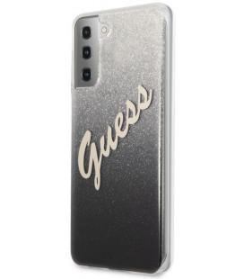 "Juodas dėklas Samsung Galaxy S21 Plus telefonui ""GUHCS21MPCUGLSBK Guess PC/TPU Vintage Cover"""
