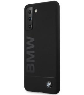 "Juodas dėklas Samsung Galaxy S21 Plus telefonui ""BMHCS21MSLBLBK BMW Big Logo Silicone Cover"""