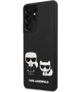"Juodas dėklas Samsung Galaxy S21 Ultra telefonui ""KLHCS21LPCUSKCBK Karl Lagerfeld PU Karl &Choupette Cover"""