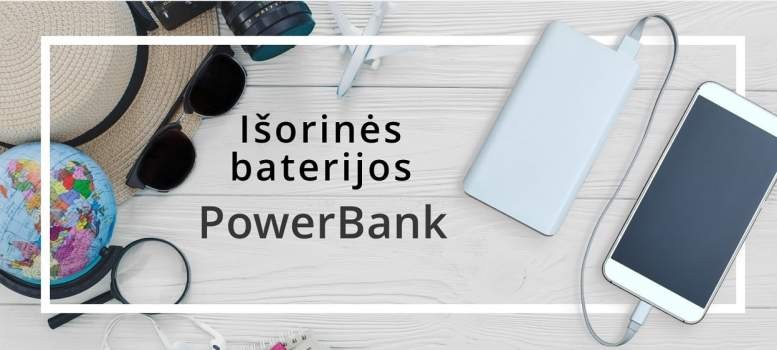 Išorinės baterijos, powerbank
